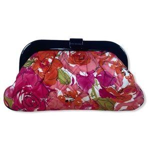 Vera Bradley Silk Vintage Rose Millie Clutch Bag
